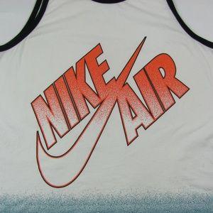 e8e3454d9c1415 Nike Shirts - NIKE AIR PIVOT White Orange Cotton Tank Top 2XL